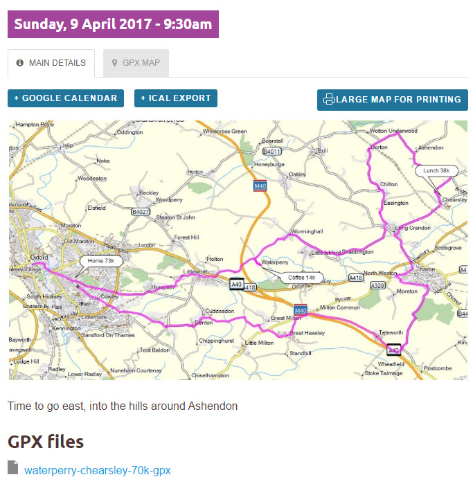 How to download gpx files from our Oxford Cycling website using
