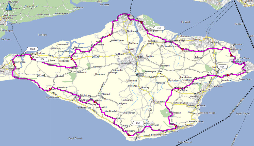 Sunday Awayday Ride Isle Of Wight Oxford Cycling UK - Map of iow